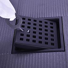 black square shower drain 4 in