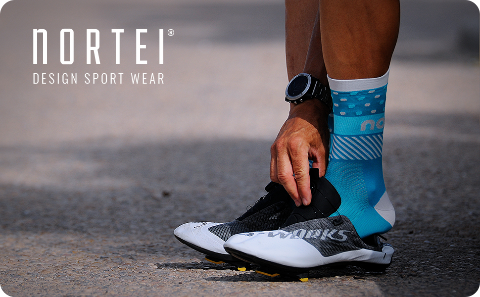 NORTEI - Calcetines de Ciclismo, MTB y Running de Meryl para Hombre y Mujer – Hit: Amazon.es: Deportes y aire libre