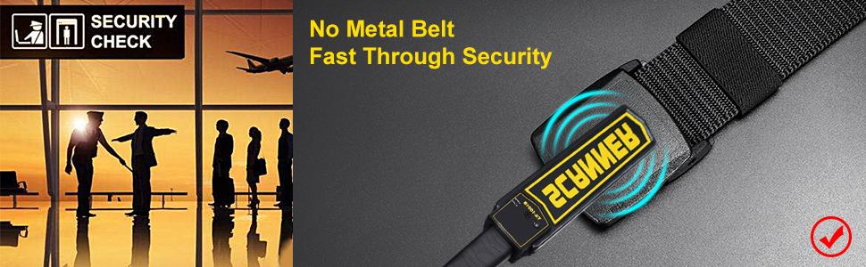 plastic buckle nylon men belt