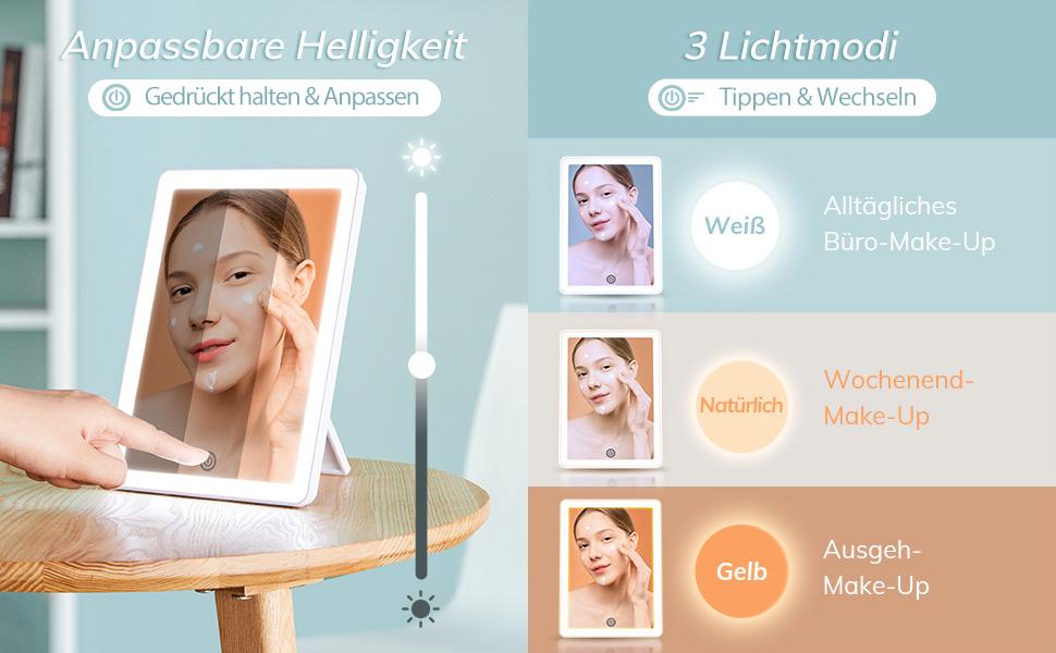 Makeup Schminken und RasierenSchminkspiegel3 Seiten Kosmetikspiegel