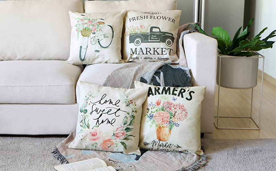 50x50 40x40 1 Pillow Case Cushion Cover Country Style SUMMER MEADOW