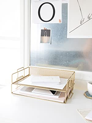 Gold Desk Organizer
