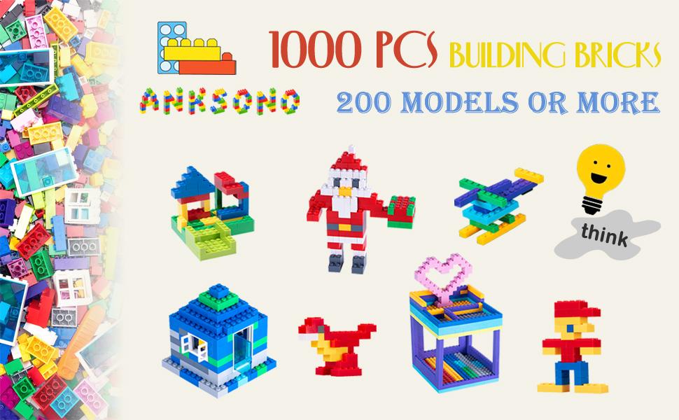 1000 pcs building bricks