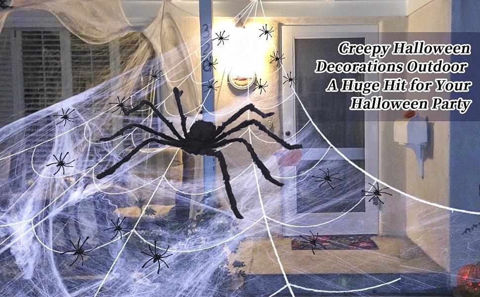 halloween decorations spider outdoor