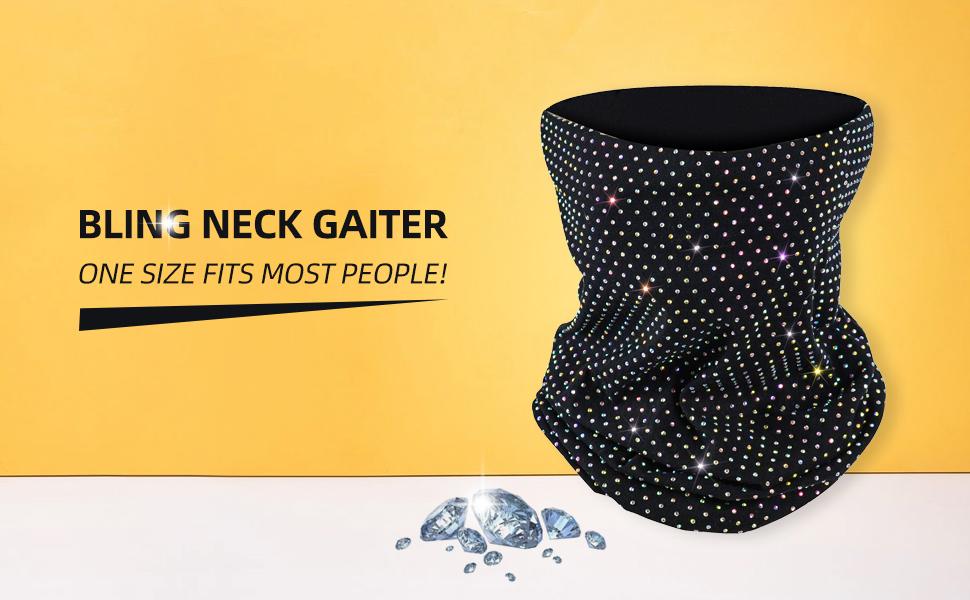 Bling neck gaitor