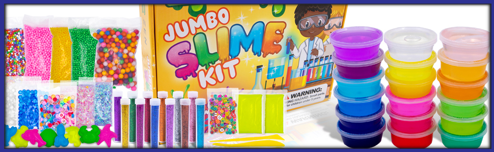 Accessories are included in our slime game kit.