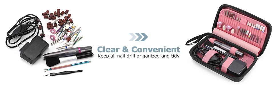 clean and tight nail drill bit organizer