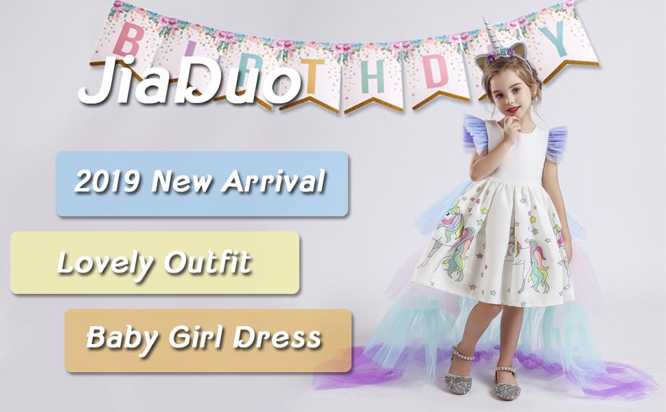 Rainbow Tutu Train  Unicorn Headband Jiaduo Girls Unicorn Dress Party Costume