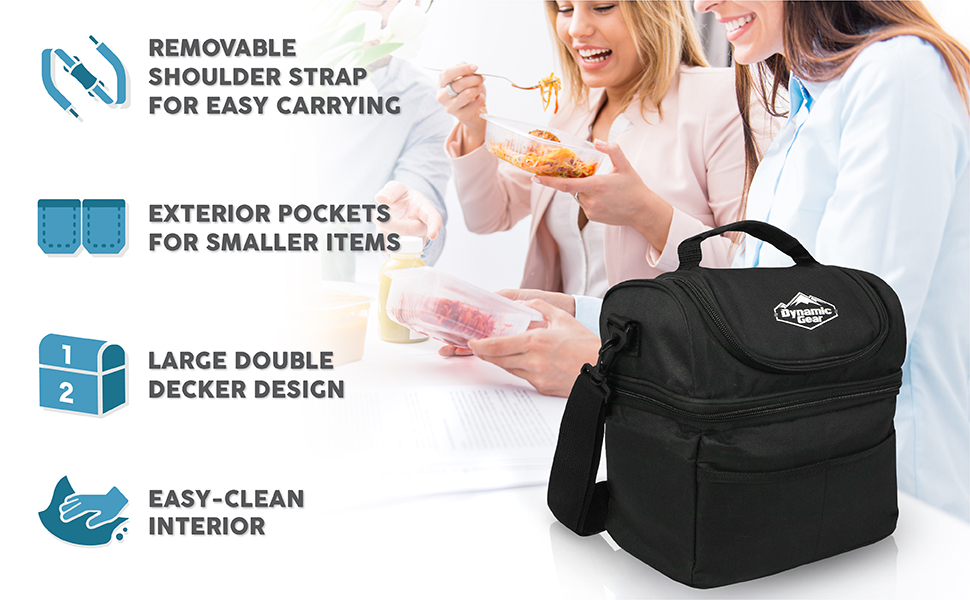 Adults//Men//Women, Dynamic Gear Refrigerated Lunch Box Tote Bag Large