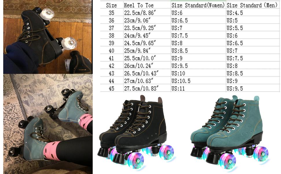 XUDREZ Roller Skates, High-top Roller Skates