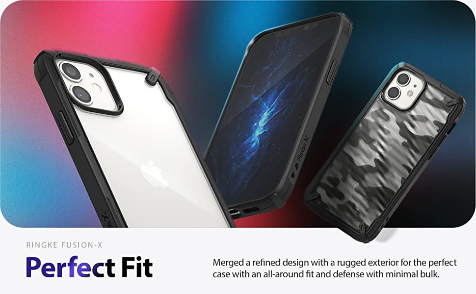"""Ringke Fusion X Case Designed for iPhone 12, 12 Pro Rugged Bumper Shock Absorption Case 6.1"""""""