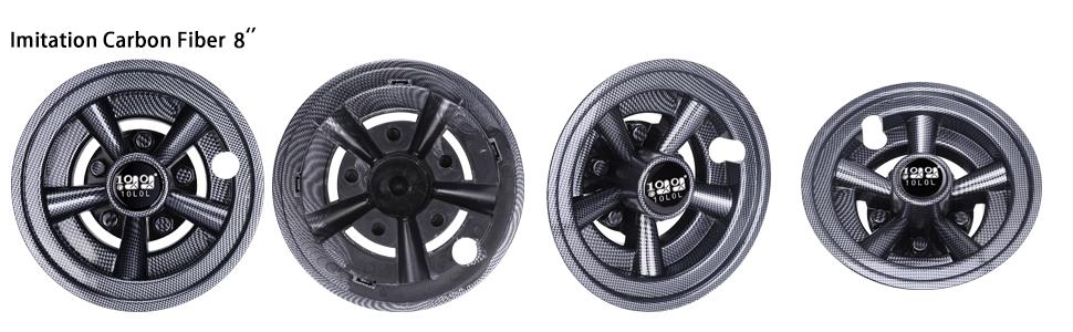 Golf Cart Wheel Covers Carbon Fiber