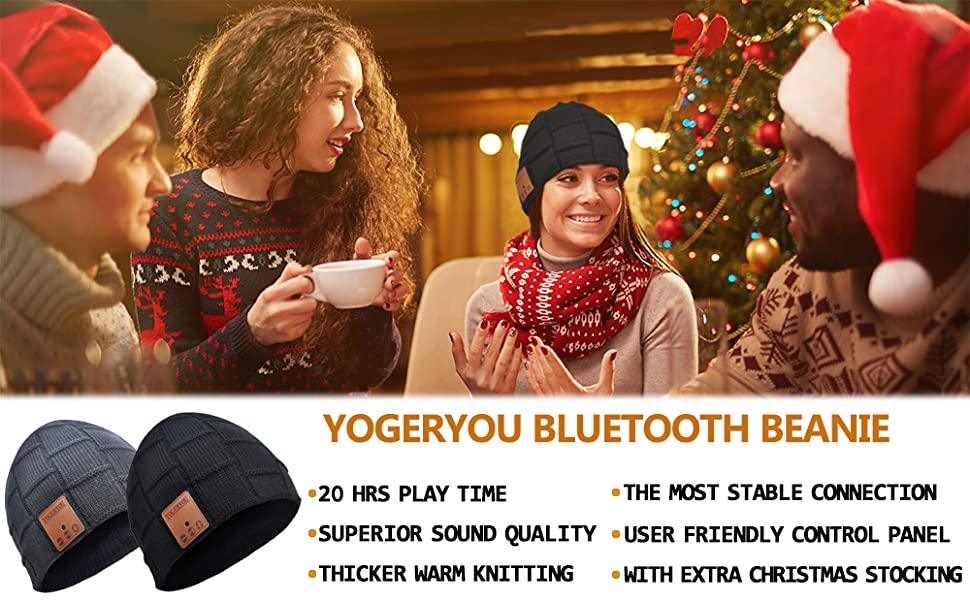 bluetooth hat with headphones gag gifts for men women dad husband in christmas and holidays