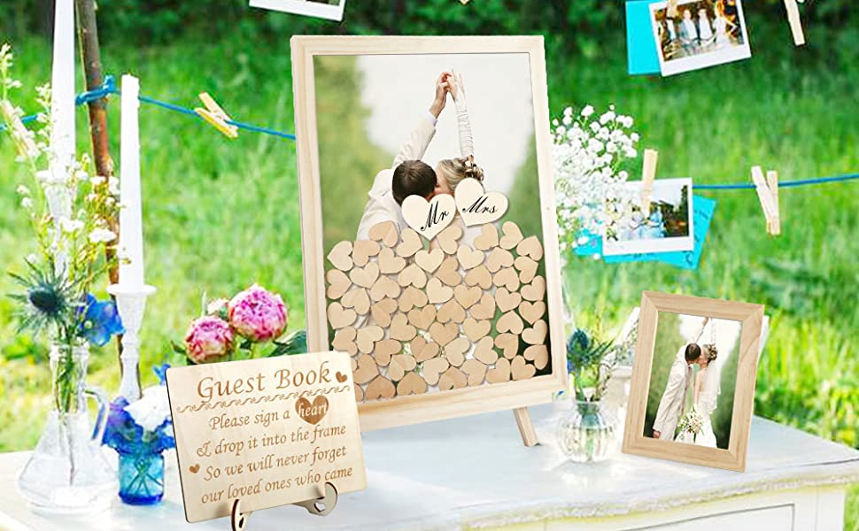 Wedding Guest Book Alternative with Hearts