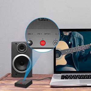 1mii Transmisor Bluetooth 5.0 TV, Emisor de Audio Bluetooth AptX HD y Baja Latencia, Adaptador Bluetooth para PC con Dual Enlace 2 Auriculares/Altavoces BT, con Jack AUX 3.5mm/ Optico/Coaxial/RCA: Amazon.es: Electrónica