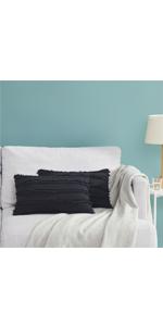 Tan Silver Chenille Throw Lumbar Pillow Covers