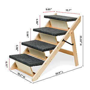 Dog Stairs Pet Steps 2-in-1 foldable pet Stairs