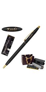 名入れ CROSS (クロス) クラシック センチュリー 替え芯 セット ボールペン (ゴールド(ツヤなし))