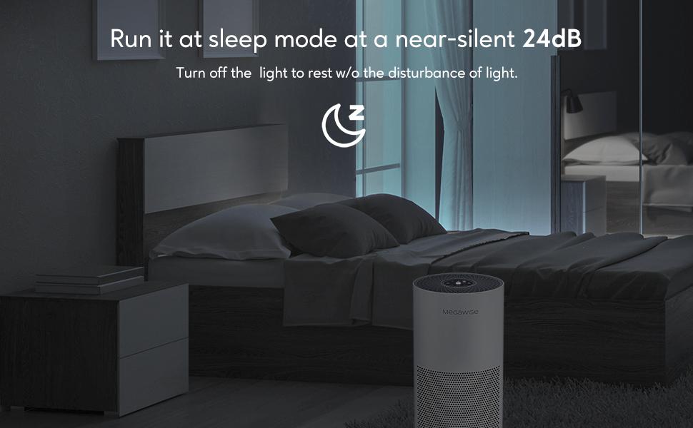 quiet air purifier, sleep mode