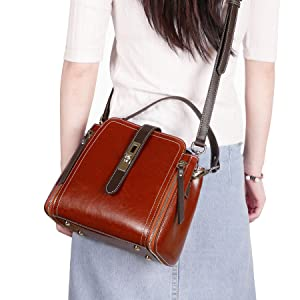 Women Leather Handbags Shoulder Bag Hobo Bag Bucket Purse Designer Satchel Fashion Cross Body Bag