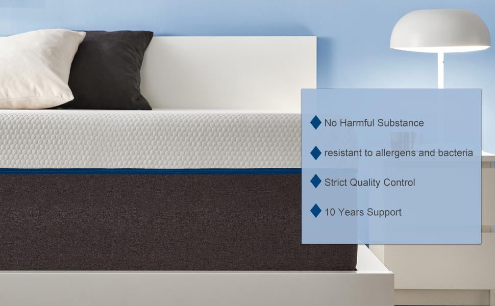 6 inches green tea medium firm air mattress topper pillow top mattress zippered egg crate hybrid bed