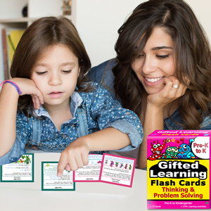 Thinking and Problem Solving Pre-K to K Flash Card Testing Mom