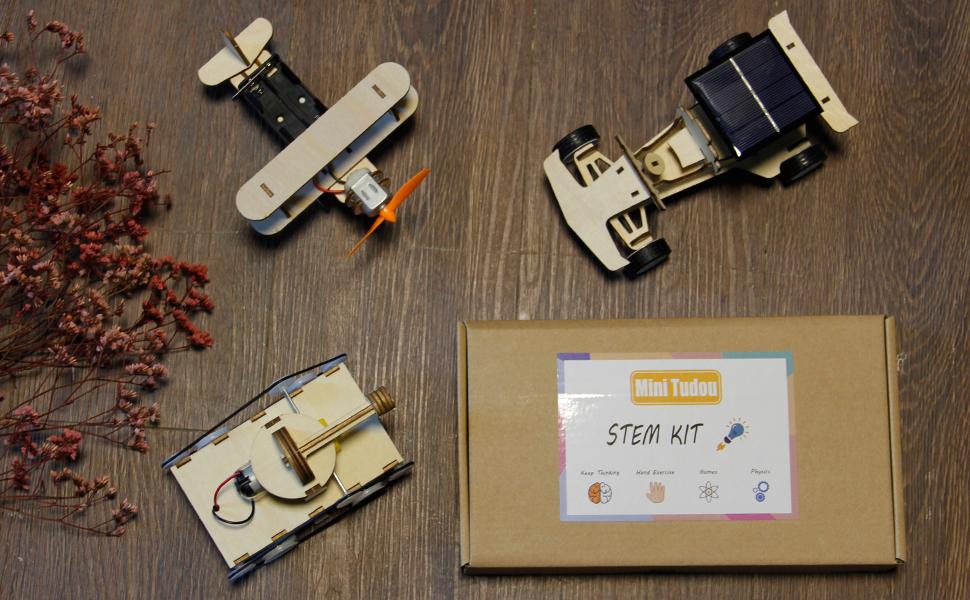 3d wooden puzzle solar power kit-10