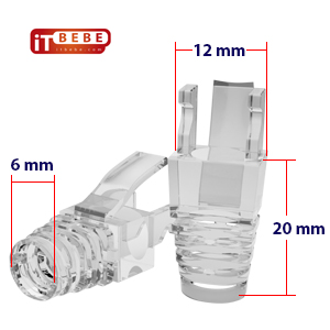 ITBEBE Cat6, Transparent strain relief boot, for internet connection DIY patch cord, ethernet