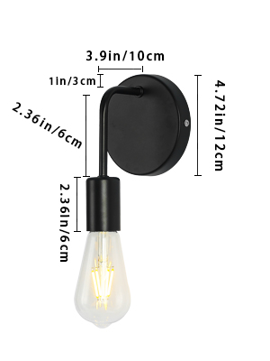 Small Wall Light Fixtures, Industrial Farmhouse Wall Lighting, Bedroom Wall Sconce for Reading