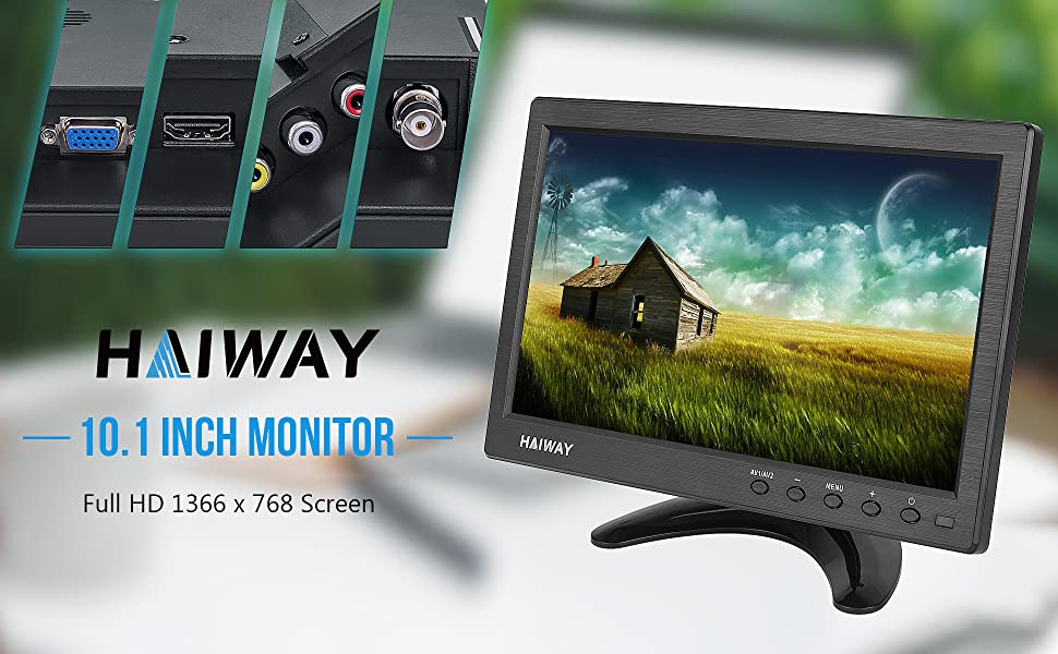 10.1 inch security monitor 10.1 inch monitor small HDMI monitor small VGA monitor