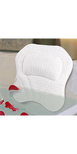 Bath Pillow Spa Bathtub Pillows 4D Mesh for Tub Cushion Head,Neck,Shoulder and Back Support Rest