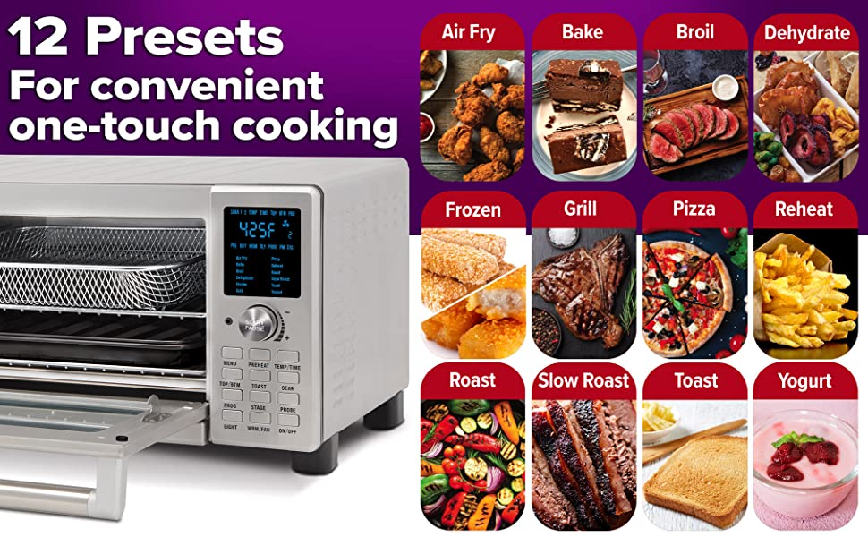 Nuwave Bravo 12 Preset Cooking Options