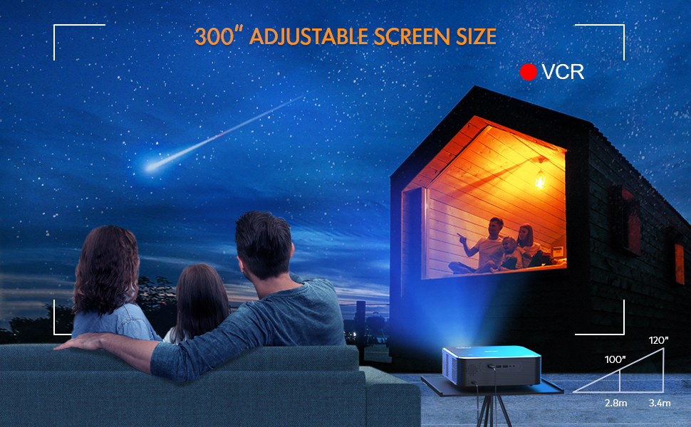 portable projector, support 4k movie