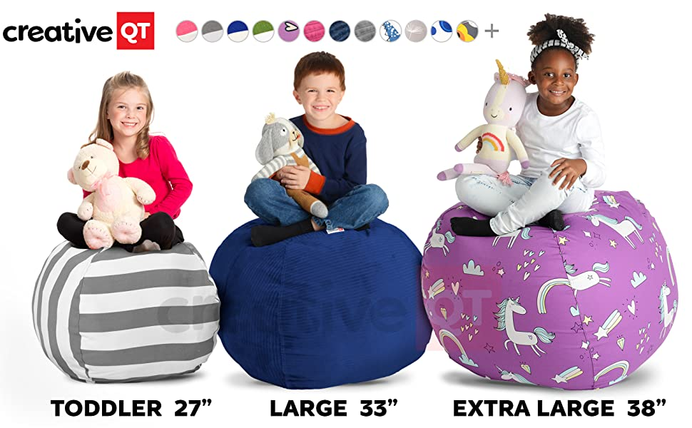 Fine Creative Qt Stuffed Animal Storage Bean Bag Chair Extra Large Stuff N Sit Organization For Kids Toy Storage Available In A Variety Of Sizes And Ibusinesslaw Wood Chair Design Ideas Ibusinesslaworg
