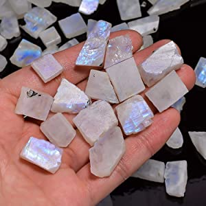 Details about  /3 lb Rainbow Moonstone Rough Stones Small Jewelry Making Tumbling Rocks