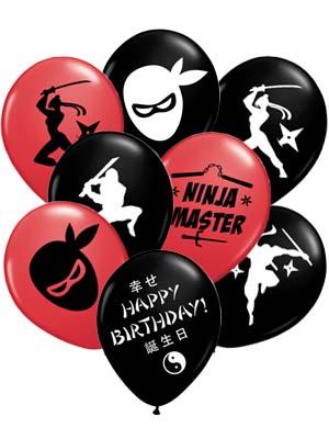 ninja party supplieskickin' ninja master party balloons