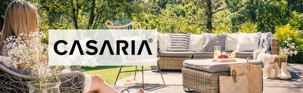 Casaria poly rattan garden furniture outdoor patio corner sofa lounge conservatory cushions set