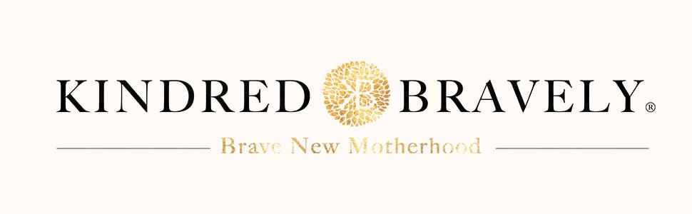 Kindred Bravely logo with gold starburst