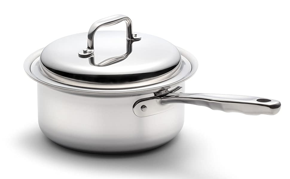 360 Cookware stainless steel pots pans waterless induction made USA healthy cooking saute skillet