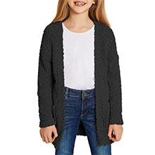 Open Front Fuzzy Cardigan Sweaters Lightweight Loose Knit Sweater with Pockets