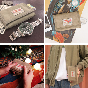 rough enough canvas wallet for kids boys girls with carabiner clip for easy carrying outdoor sports