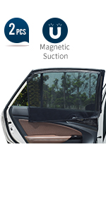 Universal Car Rear Side Window Magnetic Stretch