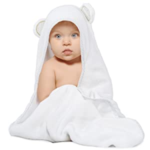 Baby hooded towel 50% thicker and softer than most baby bath towels and newborn towels