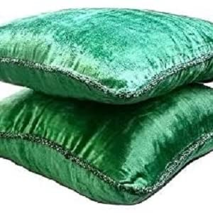 Shannon Fricke Velvet Sky Emerald Green European Pillowcase