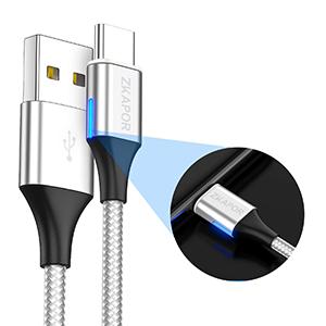 ZKAPOR Cable USB Magnético, Multi Cable Magnetic de Carga y Datos Cargador iman con Adaptador 3 en 1 Micro USB Tipo C para Android Galaxy, Xiaomi, ...