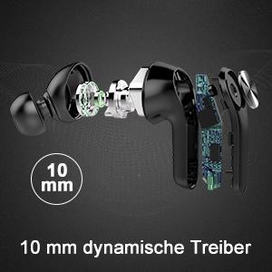 bluetooth in ear kopfhörer mit 10 mm dynamische Treiber