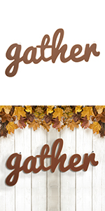 """36""""L Fall Wooden Gather Worder Hanging Decor"""