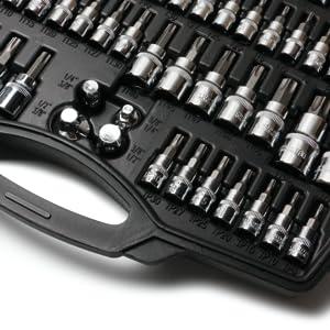 MulWark 64 pcs torx head socket set