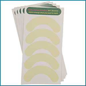 dividers blank stickers