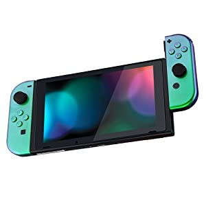 eXtremeRate Carcasa para Nintendo Switch,Funda Completa para Mando Controlador Consola Joy-con de Nintendo Switch Shell de Bricolaje reemplazable con Botón Completo (Verde a Violeta): Amazon.es: Electrónica
